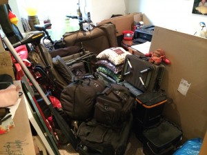 Sachen gepackt
